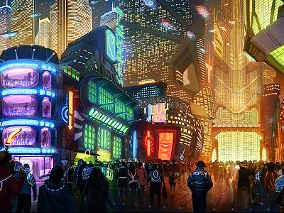 SoS - Kuwahara Commons dystopian utopian illustration cyberpunk sci fi concept art