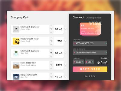 Credit Card Checkout dailyui 002 dailyui figma e-commerce store buy form credit card card checkout card illustration vector ux ui interface design