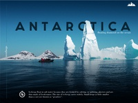 Antarctica Page Design