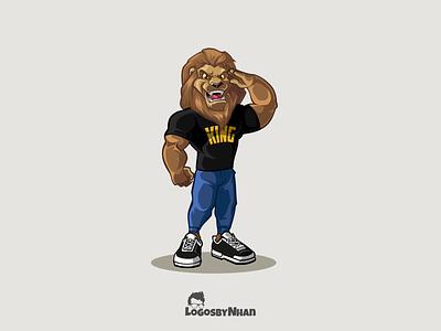 King Lion T-shirt lion king king salute saluting lion illustraion vector illustration design t-shirt design mascot character character design cartoon cartoon mascot cartoon logo cartoon character