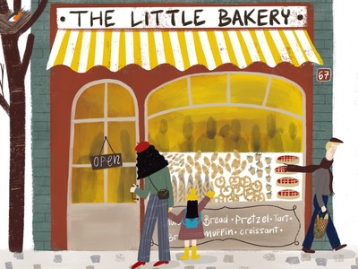 Illustration - The little bakery - Children Book