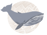 Whale Illustration - Nursery Art