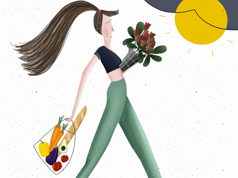Shopping Lady Illustration tomato plant holland fruit food illustration netherlands illustration agency kids books artist kids books kids children illustration book arts kids book children book illustration children book children art illustration art illustrator procreate illustration