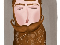 Ginger Beard Guy Illustration