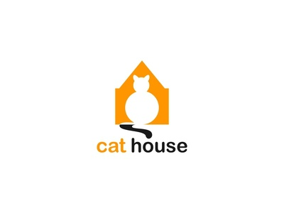 Cat and House Concept Logo