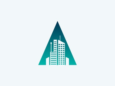 Apartment Logo Concept with Initial A