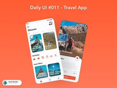 Daily UI #011 - Travel App nepali nepalisbeautiful shey travelnepal nepaltravel travels travelapp splashscreen