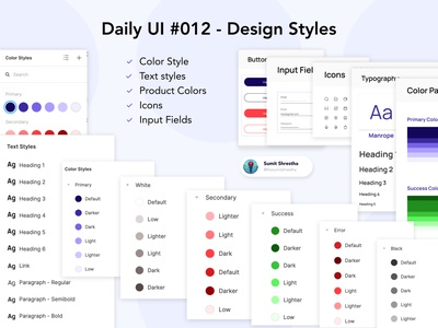 Daily UI #012 - Design Styles designsystems bestdesignstyles designcomponents components designstyles splashscreen