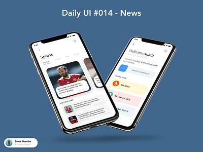 Daily UI #014 - News mobileappnews newsdetail newsapp websitenews newswebsite splashscreen