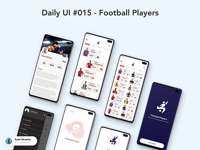 Daily UI #015 - Football Players playerlist playerdetails ronaldo messi football bestmobileapps mobileapps footballplayers splashscreen