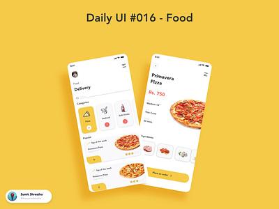 Daily UI #016 - Food foodie bestfood bestrecipe recipeapps bestfoodrecipe foodrecipe food splashscreen