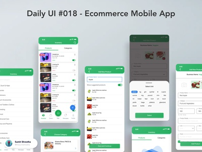 Daily UI #018 - Ecommerce Mobile App productdetails productpage products addproducts ecommerce splashscreen