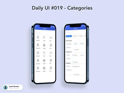 Daily UI #019 - Categories differentcategories categories splashscreen