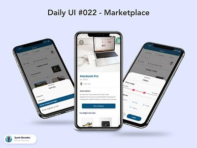 Daily UI #022 - Marketplace marketing ecomm ecommerce facebookmarketplace placce market marketplace day21