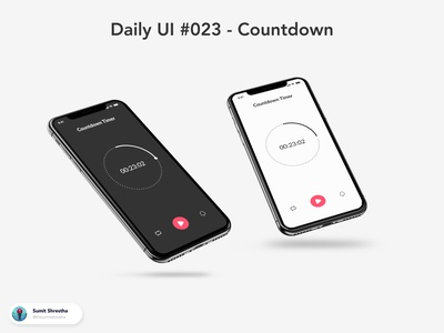 Daily UI #023 - Countdown timers stopwatch alarm ecommerce timer countdown day21