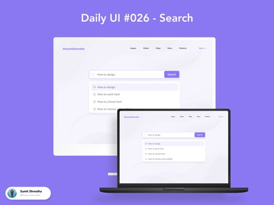 Daily UI #026 - Search searchs searching ecommercesearch search day21