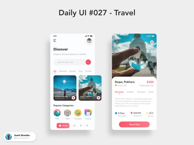 Daily UI #027 - Travel serene wanderlust travelling travel day21