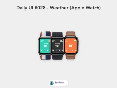 Daily UI #028 - Weather (Apple Watch) applewatchapps smartwatch weatherwatch applewatch day28