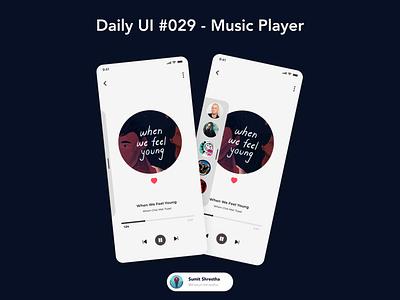 Daily UI #029 - Music Player songs favourite favouritesongs music musicplayers day28