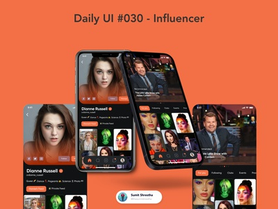 Daily UI #030 - Influencer heroes action celebrity influencer day28