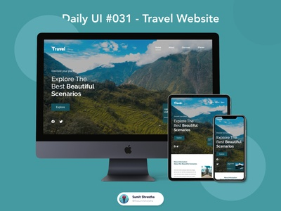 Daily UI #031 - Travel Website