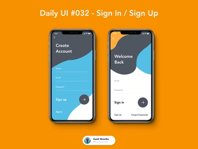Daily UI #032 - Sign In / Sign Up createraccounts createaccount signuppp signup signin day28