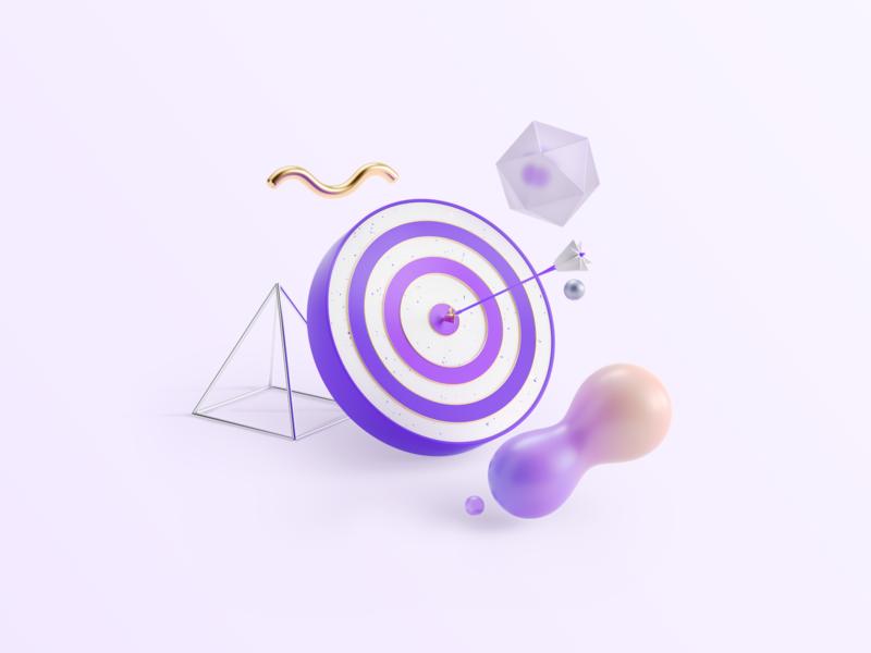 Audience Republic Illustration ui design ui app music branding 3d startup illustration 3d illustration