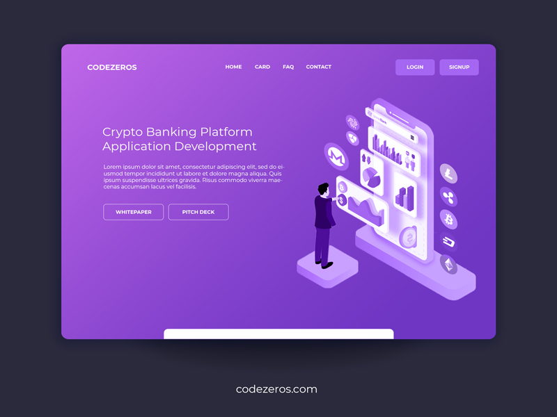cryptocurrency banking platform