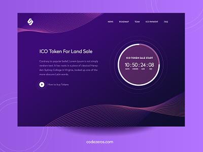 ICO Token Sale cryptocurrency web design user interface user   experience uiux trading portal token sale ethereum design ui dark theme dark bitcoin 10clouds ico token sale token ico codezeros