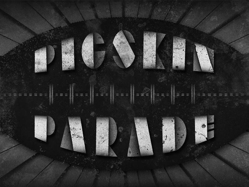 Pigskin Parade • 1936 • Movie Title movietitles artdeco deco typography lettering