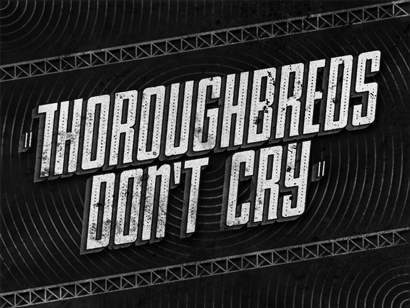 Thoroughbreds Don't Cry • 1937 • Movie Title sans judygarland movietitle lettering typography type