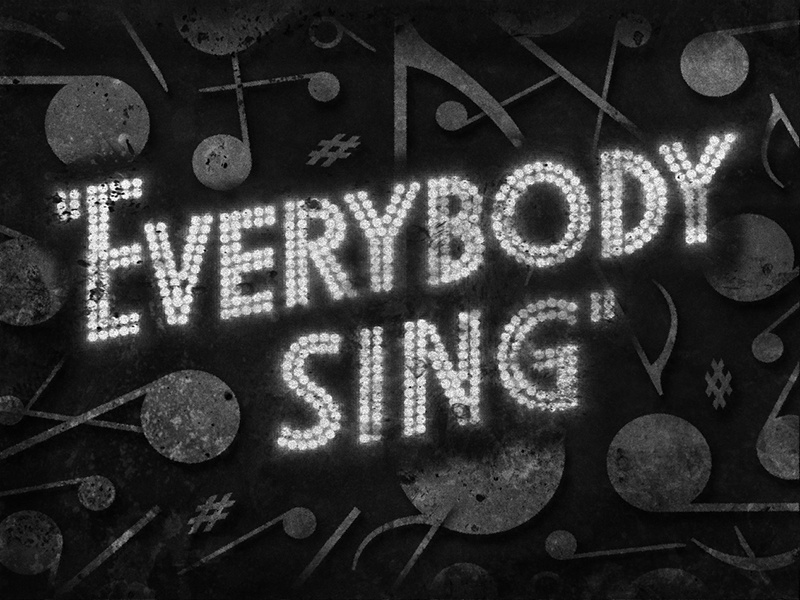 Everybody Sing • 1938 • Movie Title lighting bulbs movietitles typography judygarland lettering