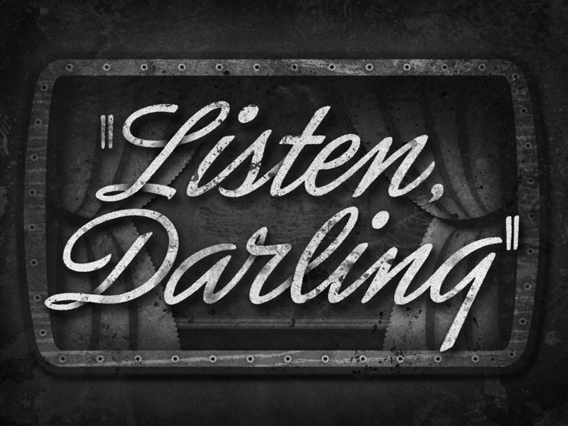Listen Darling • 1938 • Movie Title lettering typography judygarland