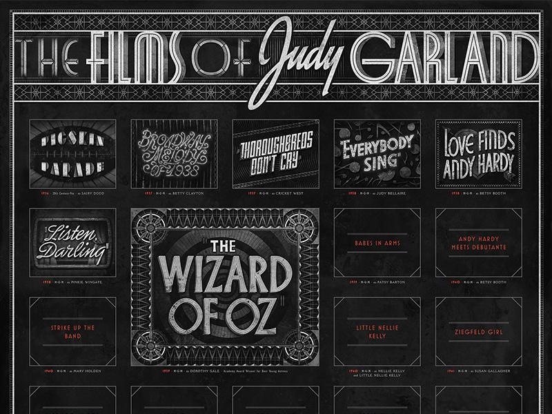 Poster • Sneak Peek lettering typography poster judygarland