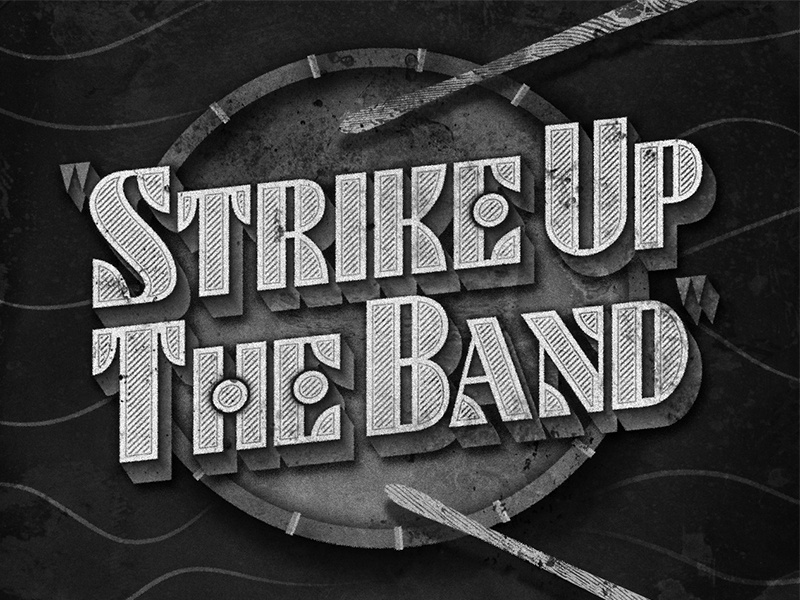 Strike Up The Band • 1940 • Movie Title futurist deco lettering typography judygarland