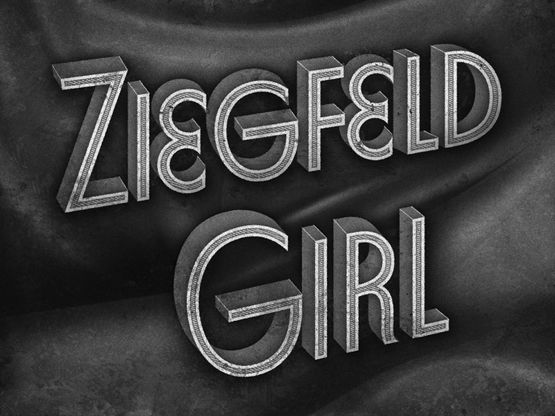 Ziegfeld Girl • 1941 • Film Title retro film movietitle lettering typography judygarland
