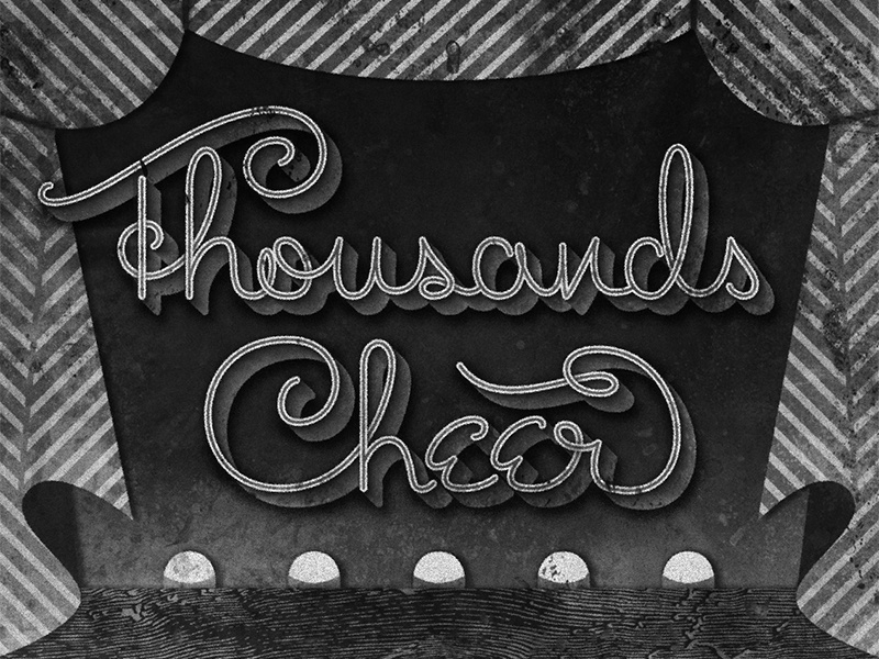 Thousands Cheer • 1943 • Movie Title typography movietitle judygarland lettering