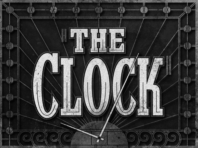 The Clock • 1945 • Movie Title movietitles deco lettering typography judygarland