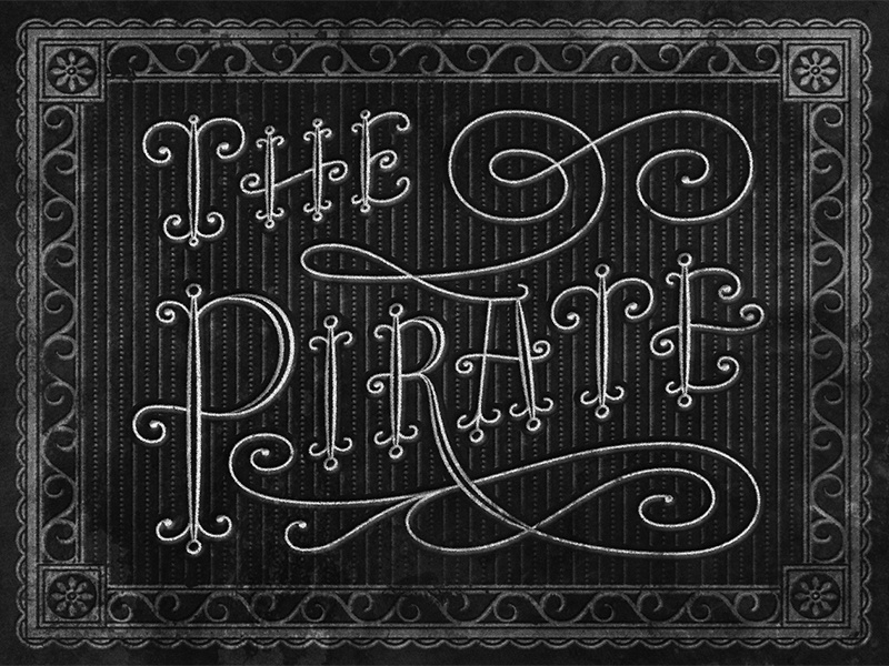 The Pirate • Movie Title • 1948 foilstamp ornament script lettering typography judygarland