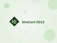 Proposed logo design for VimConf 2013