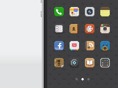 Tiny iOS Icons ios app icon pixel pixelart