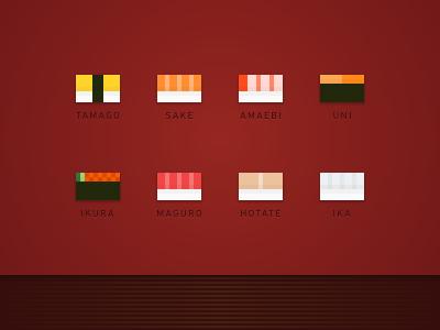 Sushi Blocks sushi pixelart icon pixel