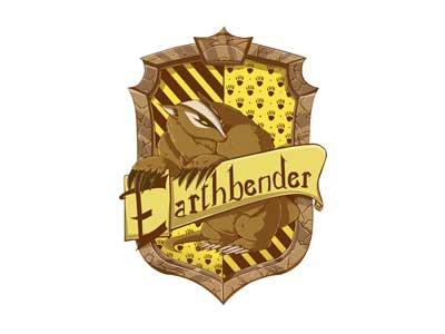 Hogwarts Earthbender Crest  harry potter hogwarts avatar the last airbender l figueroa illustration