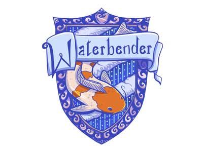 Hogwarts Waterbender Crest  harry potter hogwarts avatar the last airbender l figueroa illustration