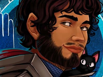 Andres Player Token digital painting illustration