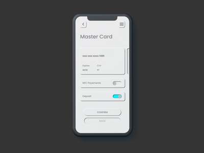 Neumorphism in user interfaces - TRYOUT 02 icon web app ui ux design