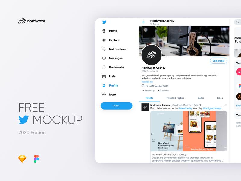 Twitter Mockup 2020 twitter ui template design twitter mockup ui
