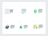 Urban Green Space Hub Logo Exploration brand identity brand design logotype illustration landscape branding logo