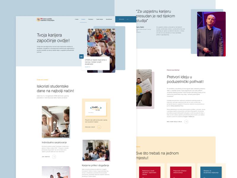 CPSRK Students landing landingpage card whitespace minimal clean case study website web design ux uiux ui design ui faculty website faculty