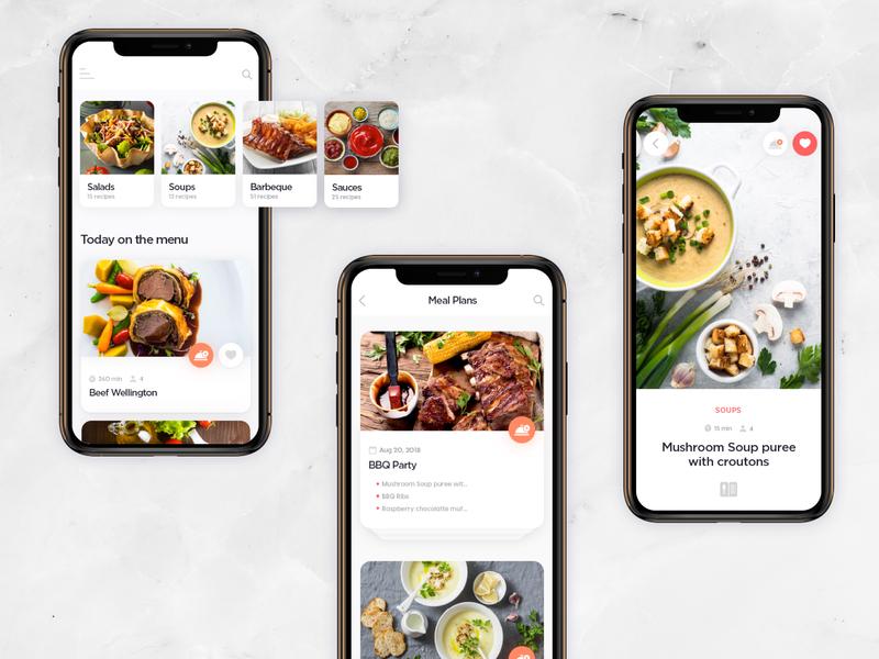 Yummy Recipes Mobile food app ui food app web app web user interface design user experience design recipe app design app design app ux ui